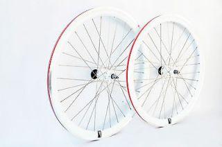 track fixie single speed bike wheelset wheel wheels deep V FREE SHIP