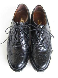 JUNYA WATANABE COMME des GARCONS__Black Wingtip Leather Shoes__2012