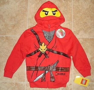 NWT LEGO Ninjago red Ninja Fleece Zipper Hoodie Sweatshirt Costume 7