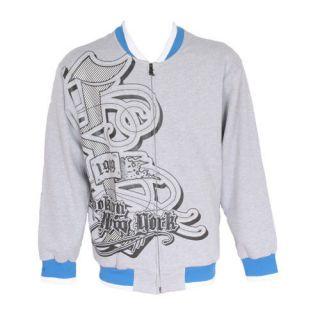 Karl Kani Varsity College Jacket Grey & Blue BNWT S   XL Loose Fit