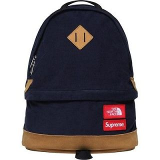 North Face Backpack Bag Navy Box Logo camp kate moss comme F/W 12