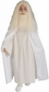 Kids Childs White Gandalf Halloween Holiday Costume Party (Size: Small