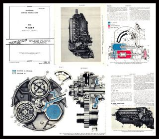 ROLLS ROYCE MERLIN AERO ENGINE V1650 9 SERVICE MANUAL in FULL