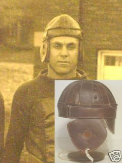1916 1922 Dog Ear Leather Football Helmet Mfg 2nd Light Weight