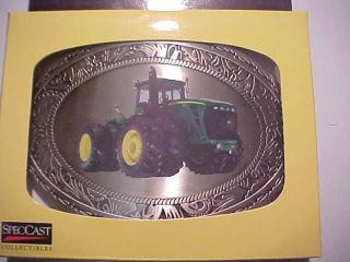 JOHN DEERE 9630 WESTERN STYLE COLLECTIBLE DIE CAST BELT BUCKLE SPEC