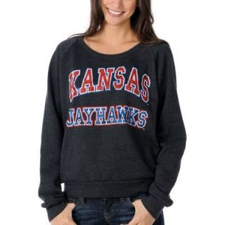 Womens New RECYCLED KARMA Kansas Jayhawks Girls College Football Scoop