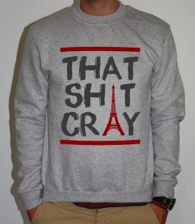 THAT SH*T CRAY KANYE WEST JAY Z WATCH THE THRONE BALL SO HARD SWEATER