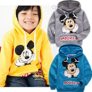 ON SALE 2 8 Yrs Toddlers Kids Boys Mickey Mouse Long Sleeve Hoodie