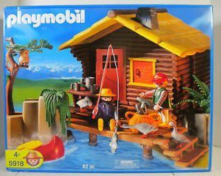 Playmobil Adventure Sportsmans Log Cabin 5918 Retired New RARE VHTF