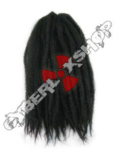 KANEKALONSTORE MARLEY BRAID AFRO KINKY HAIR #1 JET BLACK DREADS
