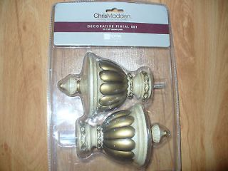Chris Madden Decorative Curtain/Draper​y Finial Sconce Wall set