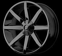 kmc km651 slide gloss black 22x9 5 free lugs stems