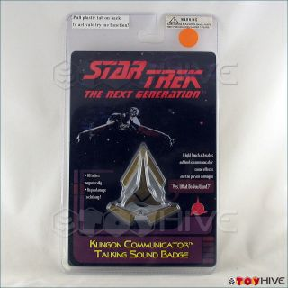 Star Trek Klingon Communicator Talking Sound Badge sealed in package