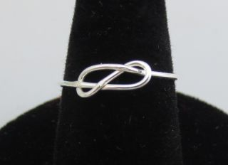 sterling silver wire infinity love knot ring size 8 time