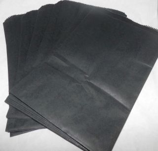 6x9 Black Paper Merchandise Bags, Party Favor Bags, Colored Gift Bags