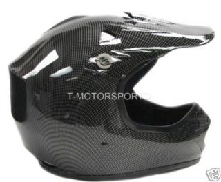 Youth KIDS Motocross Motorcross Dirt Bike ATV MX Off Road Helmet Black