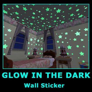 Baby Room Glow in Dark Children Bedroom Deco Wall Stickers Decals Star