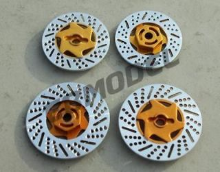 CML RC 1/10 On Road Car Dummy Aluminum Brake Discs for Tamiya HPI Gold