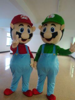 super mario and luigi mascot costume fancy dress from china
