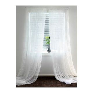 Pairs) of IKEA LILL Curtains Sheer LACE Curtain 280 X 250cm White NEW