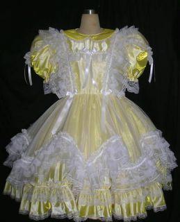 bbt shimmering taffeta adult sissy wavy dress yl