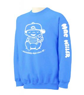 MAC MILLER Crewneck Sweatshirt most dope wiz khalifa drake ymcmb Crew