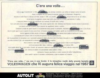 1967 volkswagen beetle karmann ghia pickup bus ad italy time