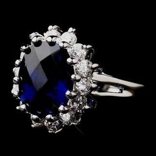 Royal Princess Kate Middleton Inspired Sapphire CZ Engagement Ring