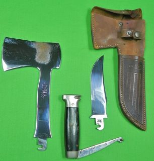 vintage us case tested xx combo set of knife axe