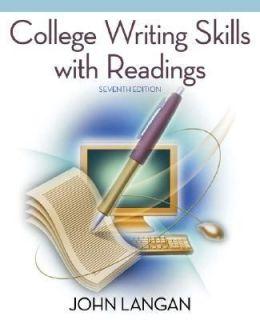 Writing Skills with Readings by John Langan 2007, Paperback