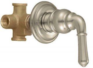 Way 4 Port Tub Shower Diverter Transfer Valve Faucet & Trim