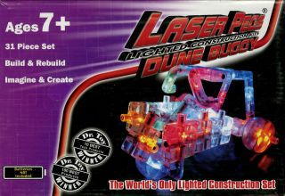 laser pegs dune buggy lighted construction kit