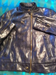 ralph lauren leather motorcycle jacket in Mens Clothing