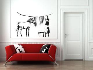 Style Washed Zebra Stripes Graffiti Art / Large Vinyl Wall Stickers