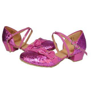 Bling Boys Girls Children Latin Shoes Dance Kids Ballroom Dancewear
