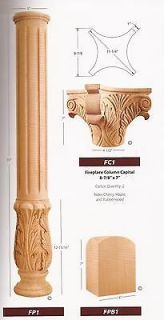 piece 2 of each fireplace wood columns capitals base