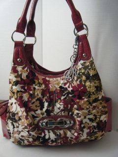LADIES WOMENS PURSE HANDBAG BY SIENNA RICCHI FLOWERED PRINT NEW WITH