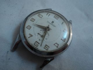 vintage mens SOVEREIGN sub second mechanical watch head  for parts or