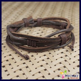 new hemp surfer tribal multiwrap men s leather bracelet from