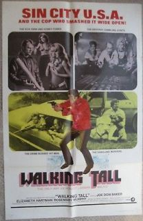 poster joe don baker walking tall 1973 vf from lebanon time left $ 100
