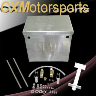 cxracing polished aluminum relocation battery box kit