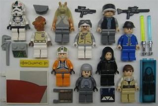 10 LEGO STAR WARS MINIFIG LOT figures people jedi minifigures guys toy