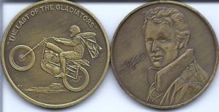 An Evel Knievel Collectible Coin The Last of the Gladiators