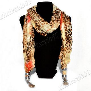 New Jewelry wholesale lot lady/girl leopard print pashmina long Scarf