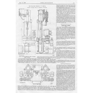 1903 engineering antique print boiler feed pumps location united