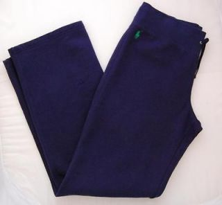 NWT RALPH LAUREN POLO WOMENS COTTON SWEATPANTS TRACK PANTS LONG NAVY