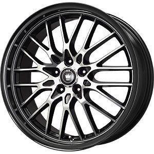 new 17x7 4x100 4x108 konig lace black wheels rims