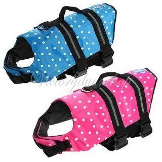 Size Pet Dog Saver Life Jacket Life vest Floatation Device Swimming