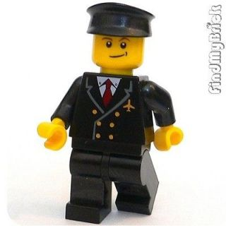 m021b lego city town airplane pilot minifig 10159 new time