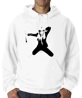 LADY GAGA HOODIE WHITE FROM SLIPSTREAM CLOTHING CLASSIC RETRO